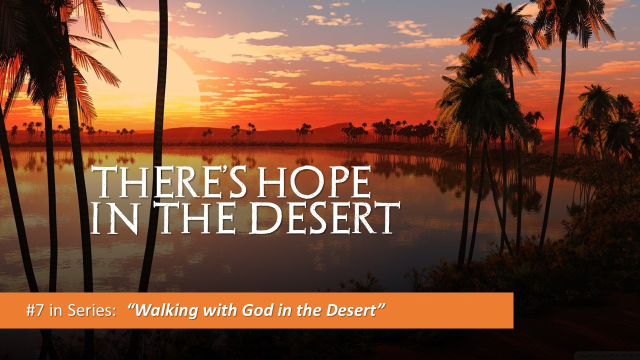 There Is Hope In The Desert